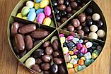 Шоколадне драже горіх, кава,апельсин,родзинки , нут Bim birlesik Hazine, 230 гр., фото 2