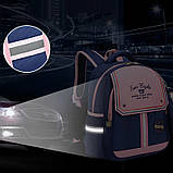 Рюкзак школьный анатомический с пеналом для девочки 1 - 2 - 3 класс, 7-8-9, детский портфель, ранец, фото 7