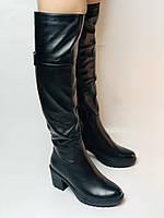 Molka. Натуральне хутро.Зимові чоботи-ботфорти на середньому каблуці. Натуральна шкіра. Люкс якість. Р. 37.38.39, фото 10