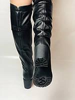 Molka. Натуральне хутро.Зимові чоботи-ботфорти на середньому каблуці. Натуральна шкіра. Люкс якість. Р. 37.38.39, фото 5