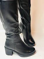 Molka. Натуральне хутро.Зимові чоботи-ботфорти на середньому каблуці. Натуральна шкіра. Люкс якість. Р. 37.38.39, фото 7