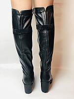 Molka. Натуральне хутро.Зимові чоботи-ботфорти на середньому каблуці. Натуральна шкіра. Люкс якість. Р. 37.38.39, фото 8