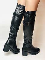 Molka. Натуральне хутро.Зимові чоботи-ботфорти на середньому каблуці. Натуральна шкіра. Люкс якість. Р. 37.38.39, фото 6