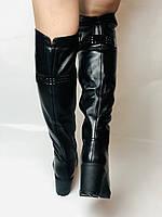 Molka. Натуральне хутро.Зимові чоботи-ботфорти на середньому каблуці. Натуральна шкіра. Люкс якість. Р. 37.38.39, фото 4