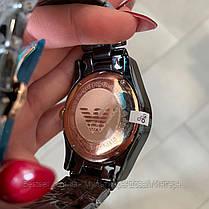 Годинники чоловічі наручні Emporio Armani AR-1400 Black-Gold / репліка ААА класу, фото 2