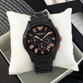 Часы мужские наручные Emporio Armani AR-1400 Black-Gold / реплика ААА класса