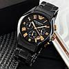 Часы мужские наручные Emporio Armani AR-1400 Black-Gold / реплика ААА класса, фото 3