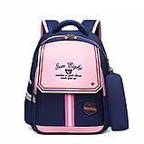 Рюкзак школьный анатомический с пеналом для девочки 1 - 2 - 3 класс, 7-8-9, детский портфель, ранец, фото 2