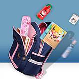 Рюкзак школьный анатомический с пеналом для девочки 1 - 2 - 3 класс, 7-8-9, детский портфель, ранец, фото 8
