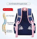 Рюкзак школьный анатомический с пеналом для девочки 1 - 2 - 3 класс, 7-8-9, детский портфель, ранец, фото 4