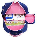 Рюкзак школьный анатомический с пеналом для девочки 1 - 2 - 3 класс, 7-8-9, детский портфель, ранец, фото 10