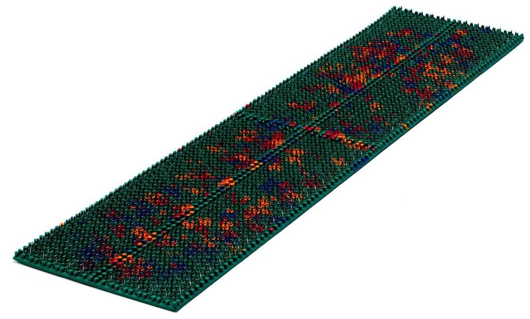 Аппликатор Ляпко 5,8 Ag Квадро размер 118 х 470 мм игольчатый коврик для позвоночника, спины, ног Зеленый