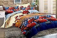 Детский комплект постельного белья, 100% хлопок, тачки