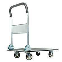 Тележка грузовая платформенная ручная четырех колесная для склада до 150 кг, 740*480*830, колеса 100 мм