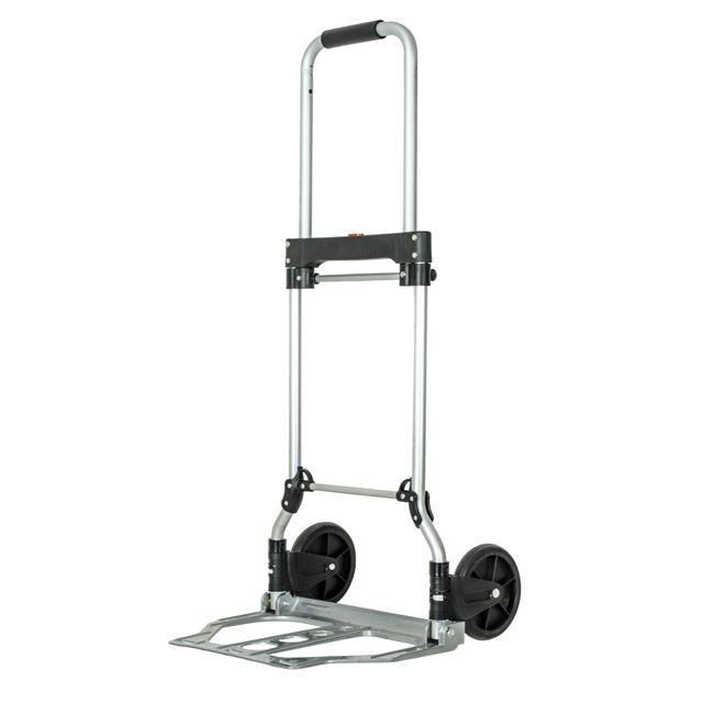 ✅ Двоколісний візок вантажна ручна складна побутова тачка (кравчучка) до 60 кг (алюмінієва), 450*420*960,