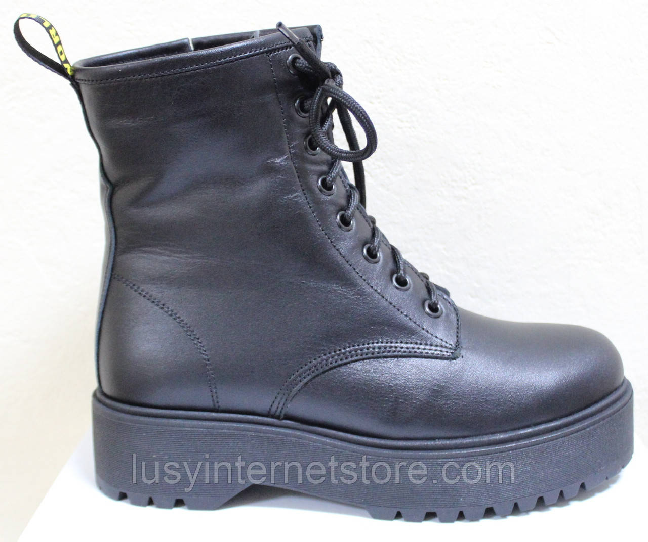 Ботинки высокие женские зимние кожаные от производителя модель НИК13