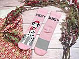 🎄 Новогодние розовые носки с далматинцами NAUGHTY 36-41 размер LEONORA, фото 2