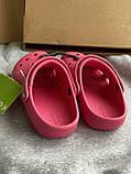 Яркие малиновые кроксы, шлепанцы сабо crocs, фото 5
