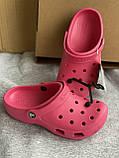 Яркие малиновые кроксы, шлепанцы сабо crocs, фото 2