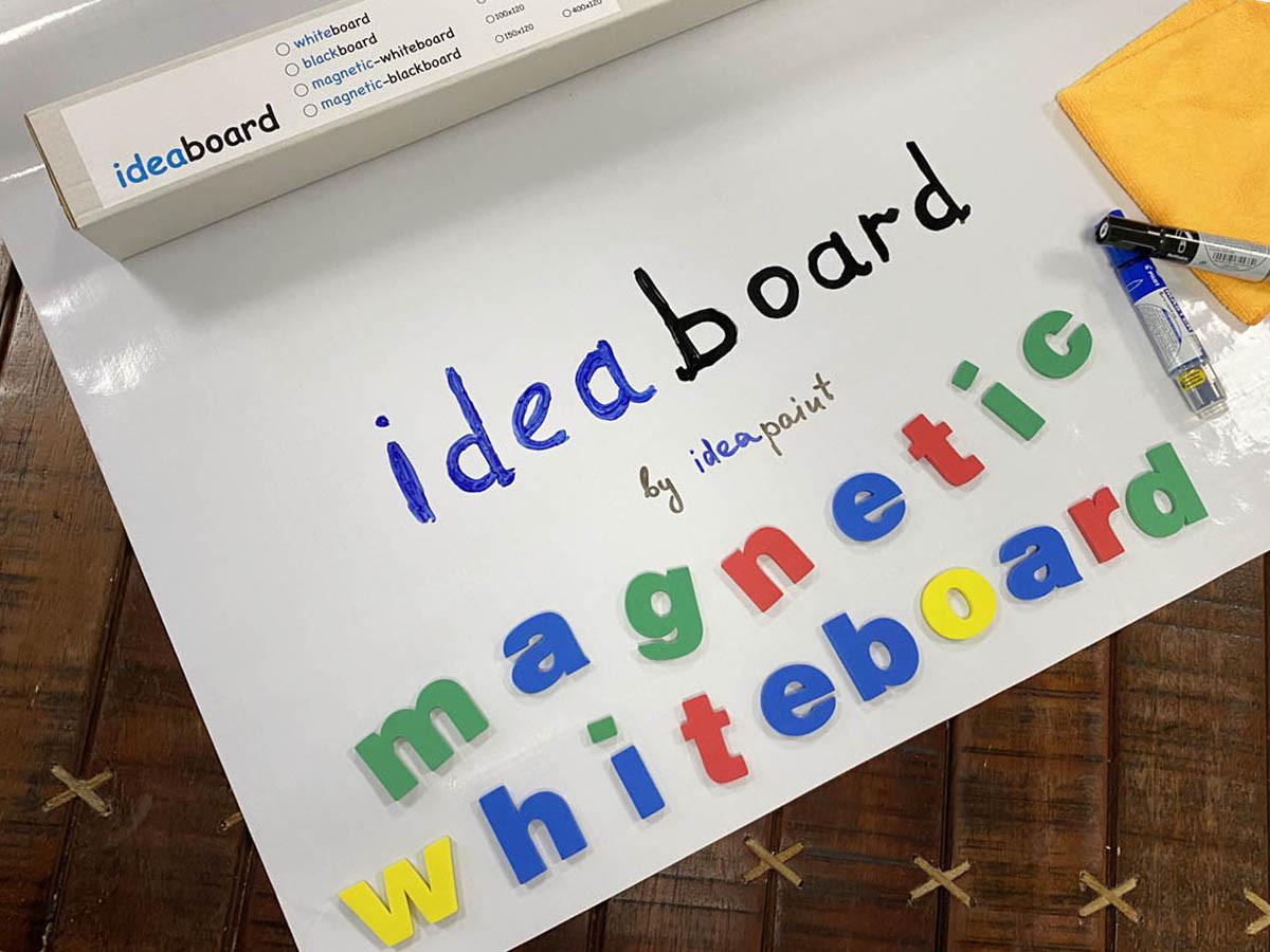Магнитно-маркерная самоклеящаяся доска белая флипчарт Ideaboard 300х120 см