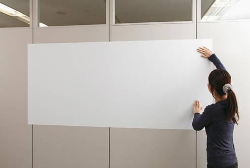Магнитно-маркерная самоклеящаяся доска белая флипчарт Ideaboard 300х120 см, фото 2
