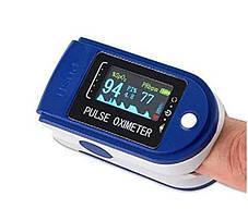 Пульсометр оксиметр pulse oximeter на палец Измеритель пульса беспроводной, фото 2