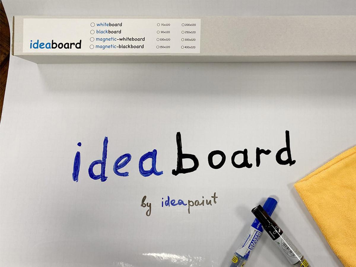 Маркерная самоклеящаяся доска белая Ideaboard 200х120 см