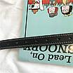 Женский эко-кожаный ремень классический прошитый простроченный черный, фото 8