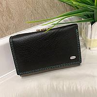 Женский кожаный складной кошелёк Dr. Bond черный КДБ56