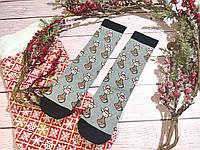 🎄 Новогодние серые носки с оленями 36-41 размер LEONORA, фото 1
