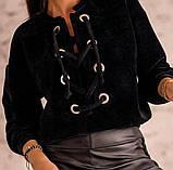 Кофта женская вельвет. Размеры: 42-46, 48-52 Цвет: мокко, чёрный, фото 3