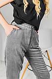 Брюки женские вельвет на флисе Размеры: 42-44 46-48 50-52 Цвет: молоко, серый, чёрный, фото 6