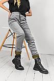 Брюки женские вельвет на флисе Размеры: 42-44 46-48 50-52 Цвет: молоко, серый, чёрный, фото 7