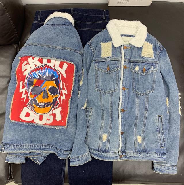 Куртка мужская джинсовая ретро на меху