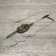 "Рыболовная кормушка на карпа в сборе ""Distance Method Flat L 75"" с отводом , вес 50 грамм"