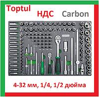 Toptul GEDB117. Профессиональный набор инструментов для автосервиса, сто, набор головок и бит, шестигранных