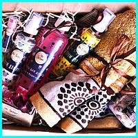 Подарочный набор Полотенце Крем для рук Крем для ног Бальзам для губ Гель для душа Натуральное мыло