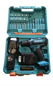 Аккумуляторный шуруповерт Makita 550 DWE 2 аккумулятора 5.0 Ач /24 V + набор