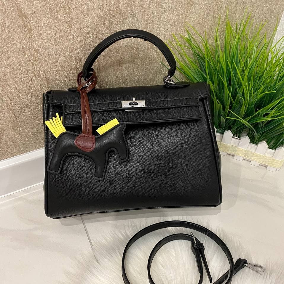 Женская сумка Hermeс Birkiн Horse черная СГБ99