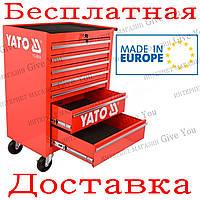 Инструментальный ящик-тележка YATO на колёсах 7 ящиков 99.5x68x45.8см (YT-0914)