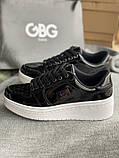 Черные лакированные кроссовки на танкетке деми g by guess оригинал, фото 4