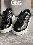 Черные лакированные кроссовки на танкетке деми g by guess оригинал, фото 2