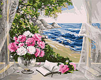 Картина рисование по номерам Идейка Букет у моря KH2072 40х50 см Цветы, букеты, натюрморты набор для росписи