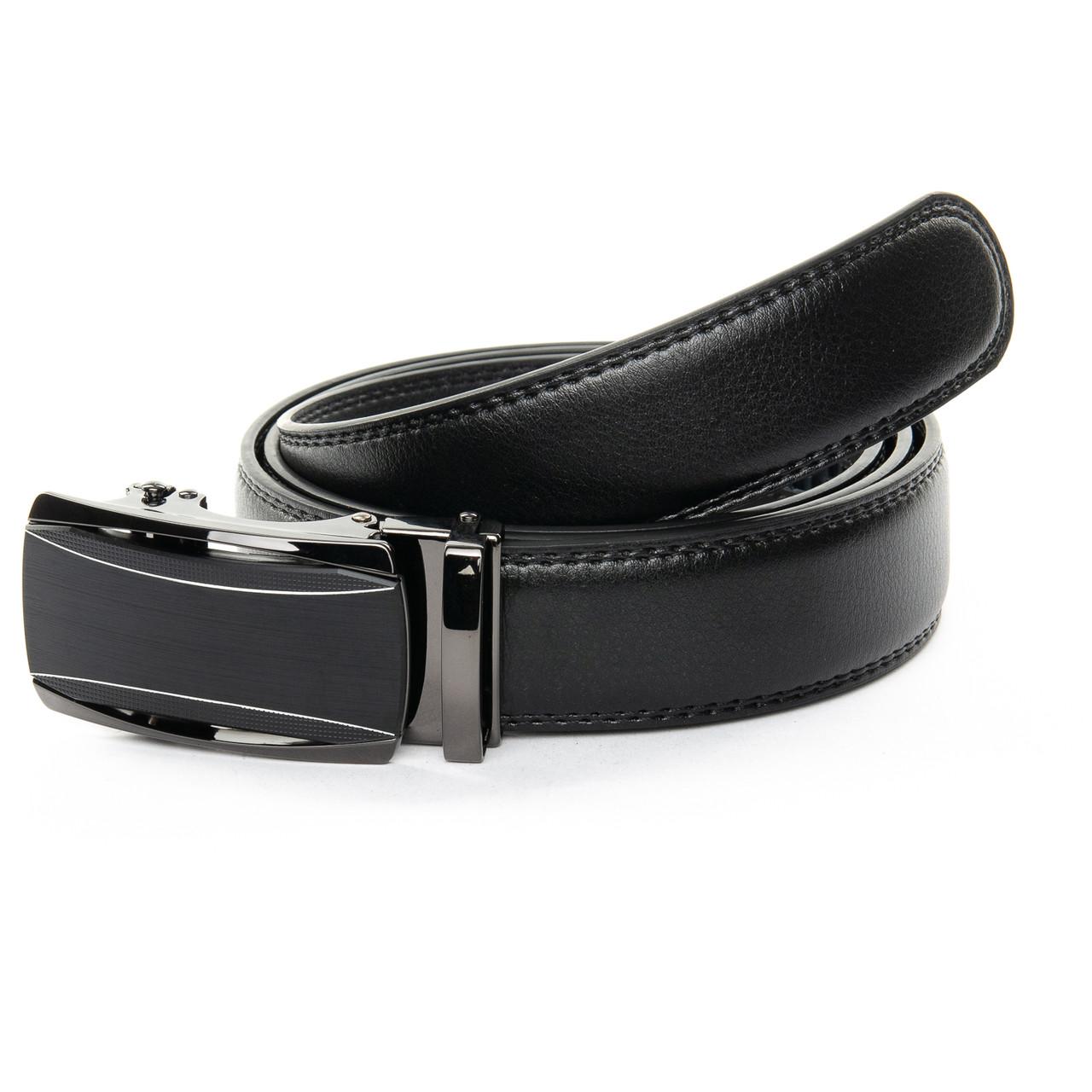 """Кожаный мужской ремень для брюк с пряжкой """"Автомат"""" 120 см D36-7316-1"""