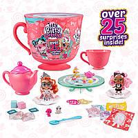 Игровой набор -сюрприз Чаепитие Итти Битти tty Bitty Prettys Tea Party Teacup Dolls Playset 9703A, фото 1