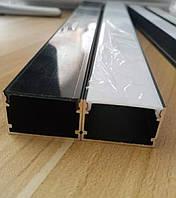 Профіль алюмінієвий SL30 Black 30х20 + чорний розсіювач, фото 1