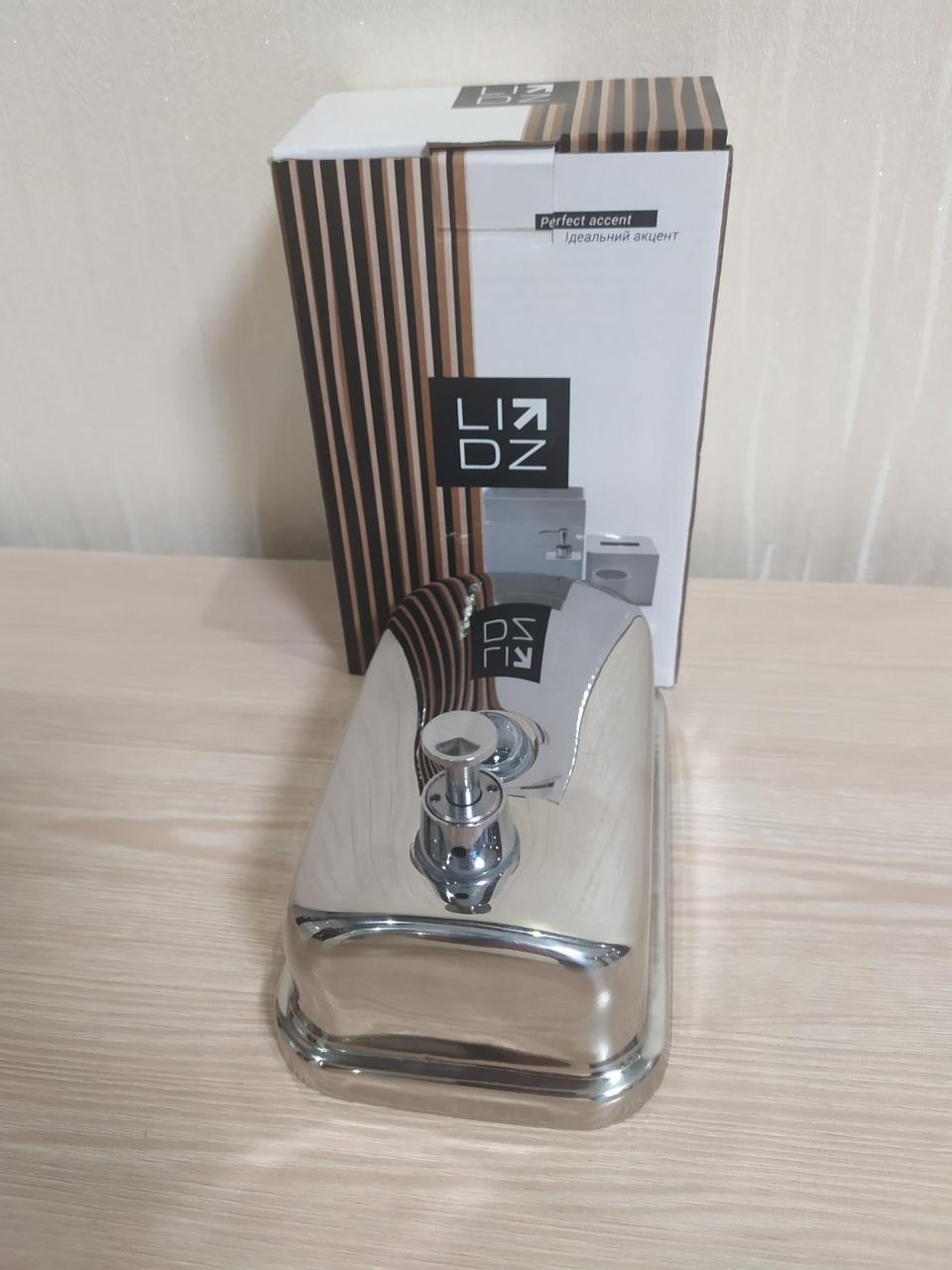 Настенный дозатор для жидкого мыла (диспенсер) 0.5 л. Lidz  хром