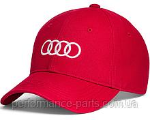 Бейсболка унисекс Audi Rings Unisex Baseball Сap, Red, Оригинал  артикул 3131701010