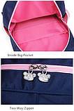 Школьный ортопедический рюкзак с пеналом для девочки 3-4-5 класс (8-9-10-11 лет), сине-розовый портфель, фото 10