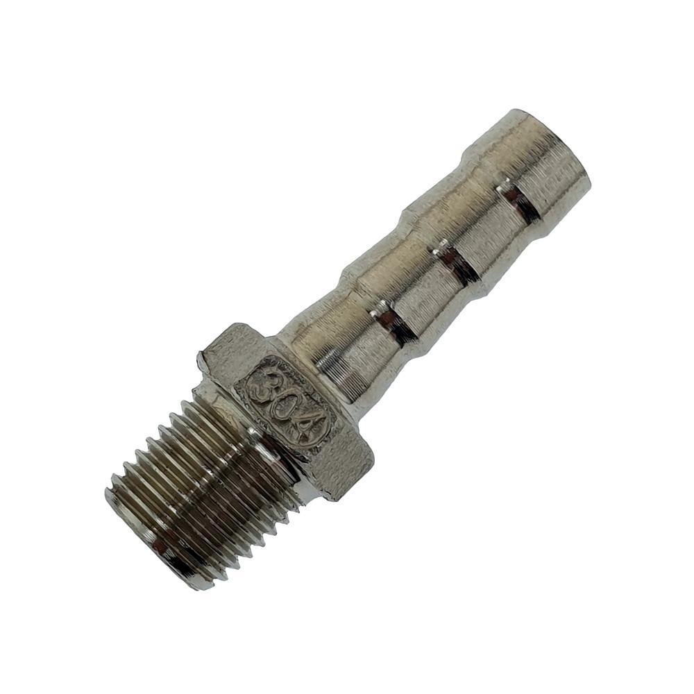 """Штуцер шланговый AISI 304 ¼"""" адаптер-елочка 10 мм."""